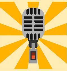 retro microphone type icon journalist vector image