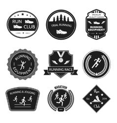 Running icons label vector image vector image