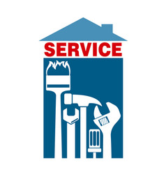 service with tools for home vector image vector image