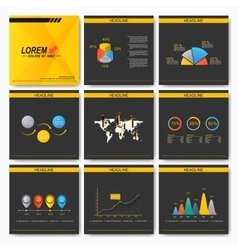 Set of business presentation square template vector image
