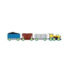 Transport train vector image vector image