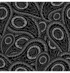 Black seamless pattern with paisley vector image