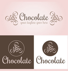 chocolate logo template vector image