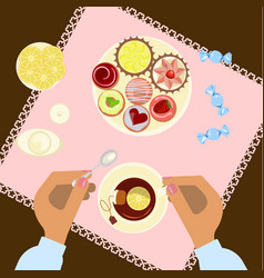 menu for tea time vector image vector image
