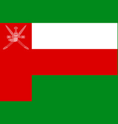 national flag sultanate of oman vector image