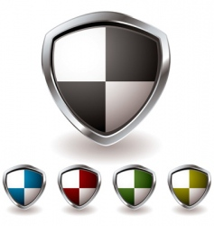 sheild quaters vector image vector image