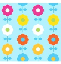 Spring flower seamless pattern design vector image vector image