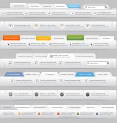 Web site design menu elements with icons set vector image