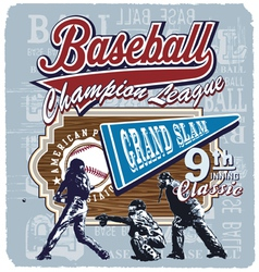 9th inning grandslam baseball vector image