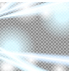 Abstract blue beams transparent background vector image