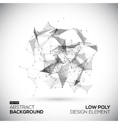 Abstract low poly geometric technology vector image vector image