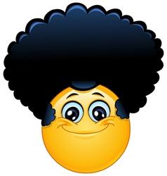 afro emoticon vector image vector image