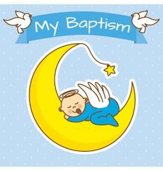 Boy baptism vector