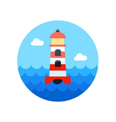 Lighthouse icon Summer Vacation vector image