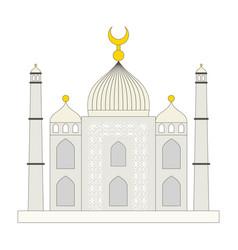 islamic mosque flat cartoon style vector image