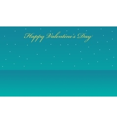 Landscape with star valentine backgrounds vector