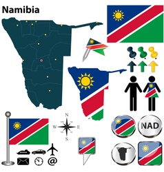 Namibia map vector image