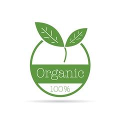 organic icon green color vector image
