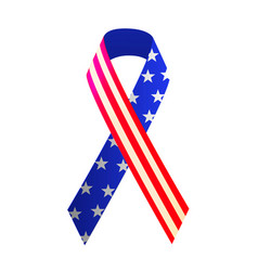 Patriotic red white and blue ribbon for 4th of vector