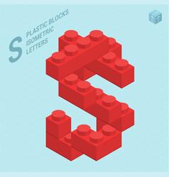 plastic blocs letter s vector image vector image