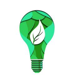 3d ecological of a light bulb cut vector image