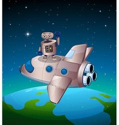 A robot above spaceship vector
