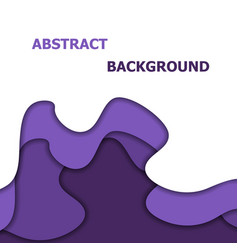 abstract background with violet paper cut vector image