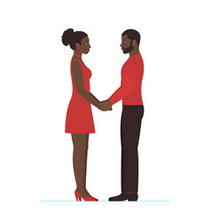 African female and african male couple in love vector