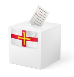 Ballot box with voting paper Guernsey vector