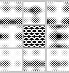 Black and white horizontal rhombus pattern set vector image