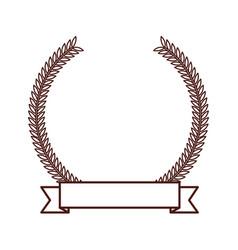 Brown round emblem icon vector