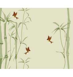 card with bamboo vector image