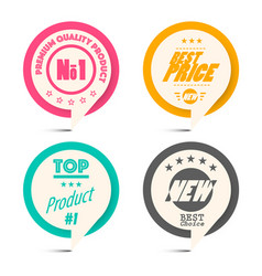 circle paper retro labels set business label set vector image