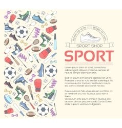 Circular concept of sports equipment background vector image