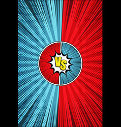 comic dynamic duel vertical concept vector image