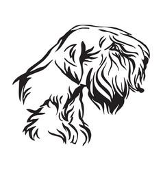 decorative portrait of dog sealyham terrier vector image