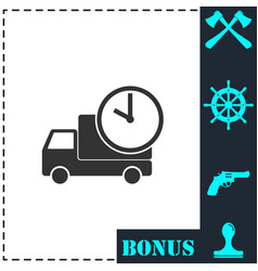 delivery time icon flat vector image