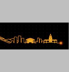 denver light streak skyline vector image