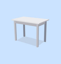 empty white plastic table isolated on blue vector image