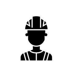 engineer industry icon black vector image
