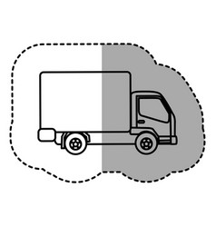 figure trucks trailer icon vector image