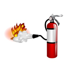 fire extinguisher use vector image