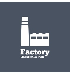 Flat style factory icon or logo template vector