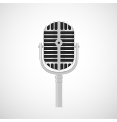 flat vintage microphone icon vector image