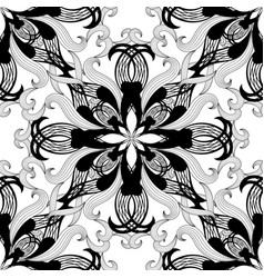 floral black and white beautiful seamless vector image