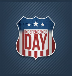 fourth of july independence day colorful badge vector image