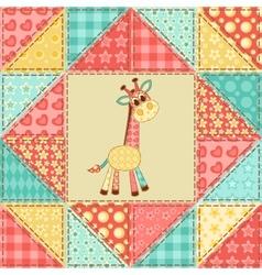 Giraffe quilt pattern vector image