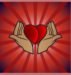 Heart gift image vector