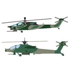 Helicopter military equipment icon vector
