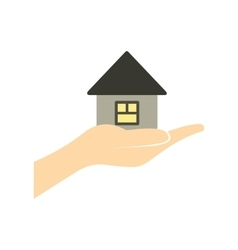 House in hand flat icon vector image